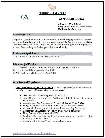Professional Curriculum Vitae Resume Template Sample Template Of