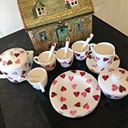 Emma Bridgewater Pink Hearts Melamine Children S Tea Set Amazon Co Uk Kitchen Home Childrens Tea Sets Childrens Tea Emma Bridgewater
