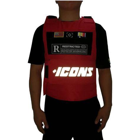 Hudson Icon Reflective Vest Red