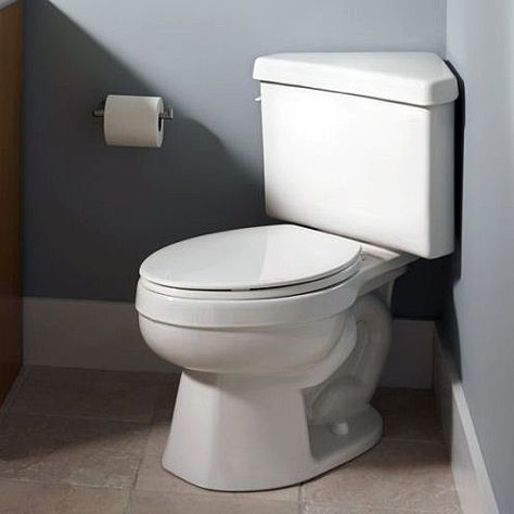 A Toilet With Triangular Tank Can Save Lot Of E In Small Bathroom