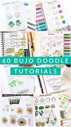 60 How to Doodle Tutorials for Your Bullet Journal - The Thrifty Kiwi