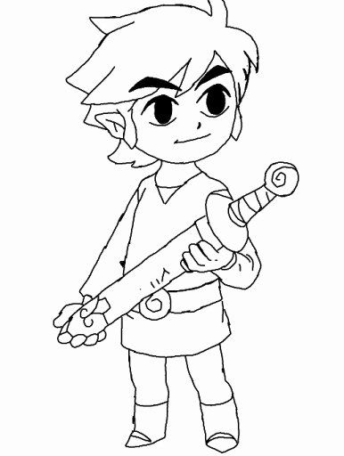 Toon Link Coloring Pages Lovely Colors Live Toon Link Coloring Page By Hylian Green Coloring Pages Coloring Pages To Print Legend Of Zelda