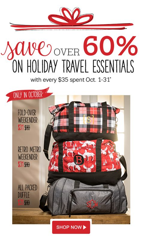 October 2017 Sale! $80 bags for only $31–ask me how!  www.mythirtyone.com/heatherhkemp  www.facebook.com/groups/HeatherKemp31/