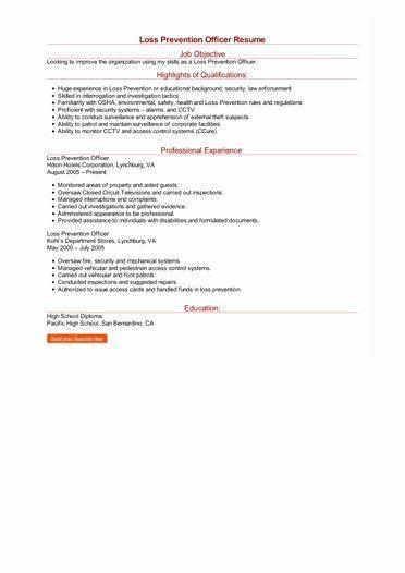 Loss Prevention Job Description Resume New Loss Prevention Ficer Resume Job Description Counselor Job Description Resume