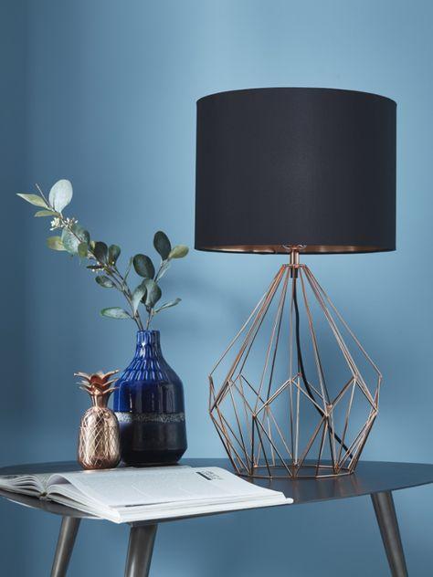 lampe à poser colours alika cuivre et noir  lampe à poser