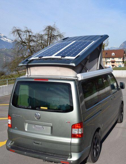 Calisolar Calisolar Ch Vw California Solaranlage Heckauszuge Und Mehr Vwcamper Vw California Camper Volkswagen Camper Vw T5 California