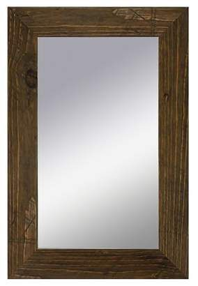 Ptm Images Rectangle Rustic Wood Decorative Wall Mirror Brown On Sale For 112 49 From Original Price Of Mirror Wall Decor Rustic Mirrors Metal Wall Planters