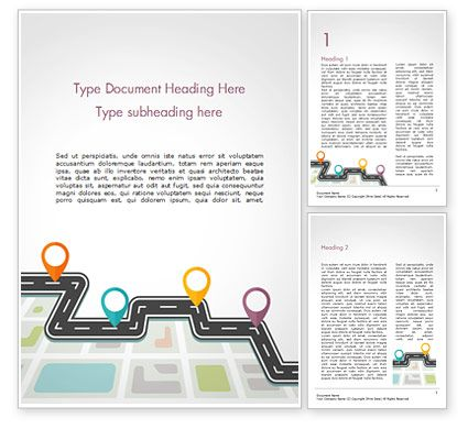 Navigator Roadmap Word Template 15474 Poweredtemplate Com Word