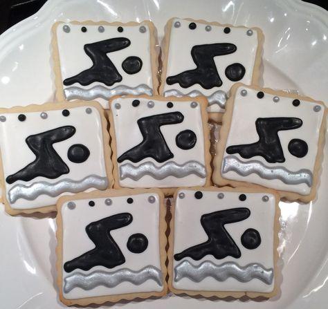 Swim Team Cookies