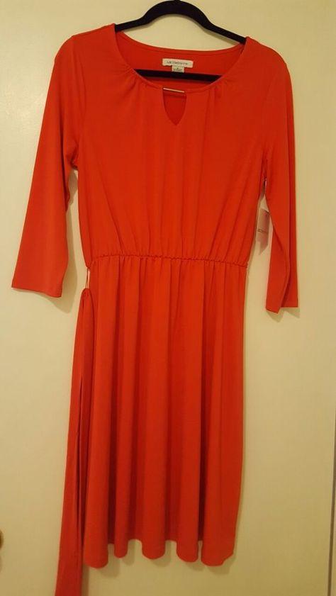 3aac2e1eb45 Beand New Womens Liz Claiborne dress size M