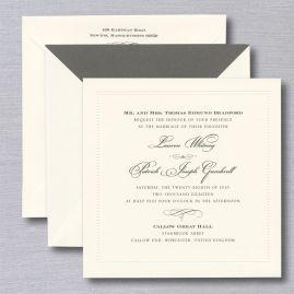 William Arthur Wedding Invitations Crane Com Square Wedding Invitations Printable Wedding Invitations Charcoal Wedding Invitations