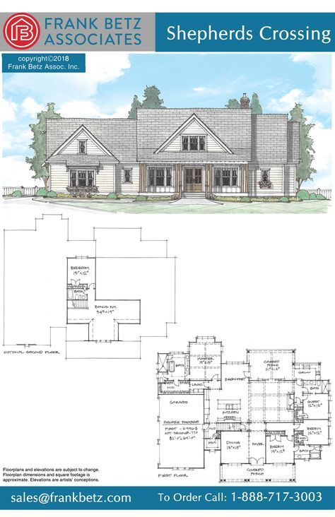 On The Drawing Board Frank Betz Associates Craftsman Style House Plans Lake House Plans Dream House Plans