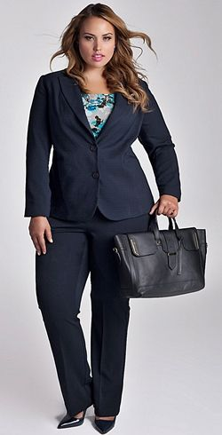 Find useful styling advice for choosing plus size business clothes. Explore  colors 4098daf6893a
