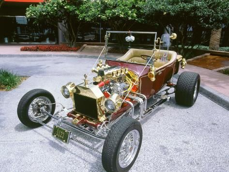 Photographic Print 1923 Ford Model T Custom Hot Rod 12x9in