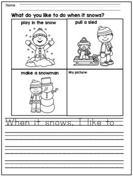 winter writing prompts pdf