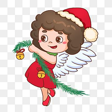 Little Curly Christmas Angel Holding A Sprite Mistletoe Curly Hair Christmas Png Transparent Clipart Image And Psd File For Free Download In 2021 Christmas Angels Cartoon Styles Christmas Tree Background