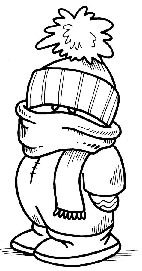 Printable interactive Winter coloring pages, Winter coloring pages for kids http://www.apples4theteacher.com/coloring-pages/winter/ РАЗУКРАШКИ