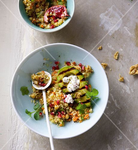 Quinoa Salad With Cottage Cheese And Grilled Avocado Grilled Avocado Quinoa Salad Cottage Cheese