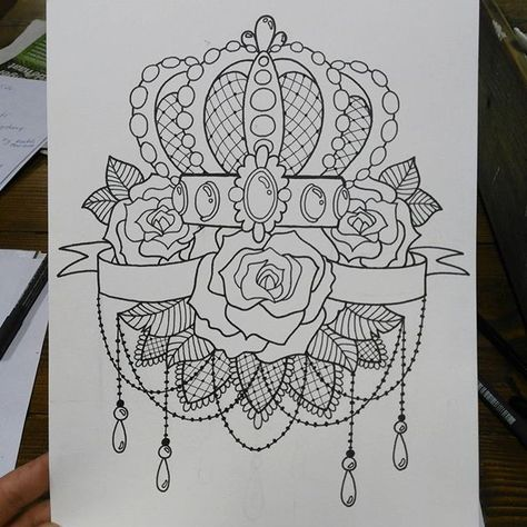 tattooflash Added some lace 😸#tattoo...