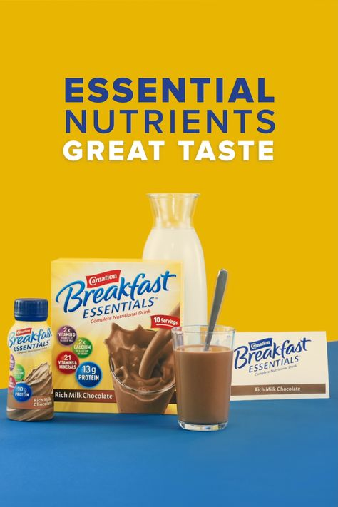 Start the school day with a nutritious breakfast from Carnation Breakfast Essentials, a breakfast drink with 21 essential vitamins and minerals.