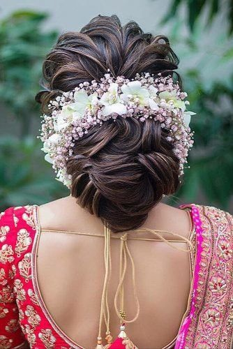 Wedding Guest Hairstyles 42 The Most Beautiful Ideas Wedding Forward Bridal Hair Buns Bridal Hairstyle Indian Wedding Hair Styles