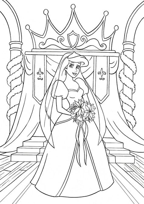 Kolorowanka Ksiezniczka Ariel Z Bajki Disney Mala Syrenka Nr 26
