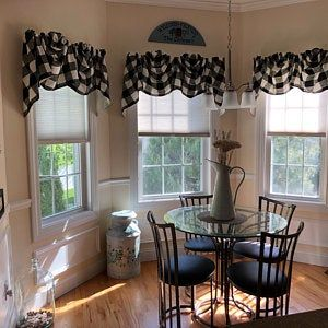 Woven Buffalo Check Shaped Valance With Or Without Trim In Gray Navy Red And Gold In 2020 Valance Trending Decor Rustic Country Kitchens