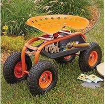 Memberu0027s Mark Garden Scooter With Swivel Seat   Orange