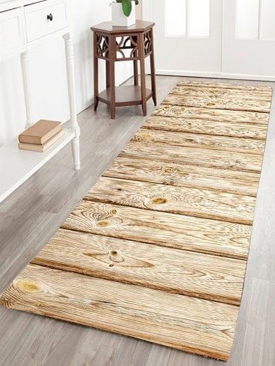 Wood Grain Flannel Skid Resistant Rug Rugs On Carpet Wood Rugs