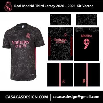 Real Madrid Third Jersey 2020 2021 Kit Vector In 2020 Real Madrid Madrid Jersey