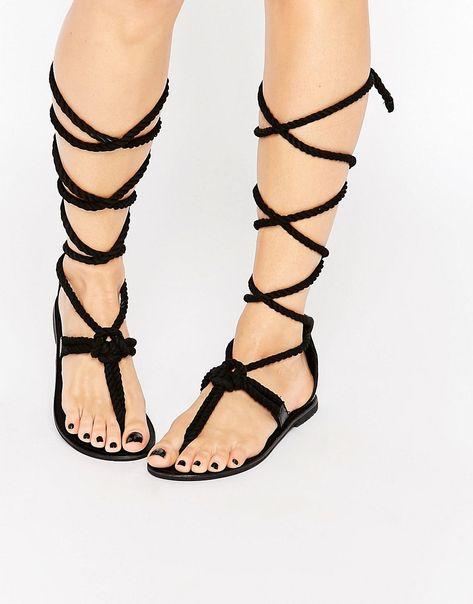 0d83d3b694b ASOS+FLYTRAP+Rope+Tie+Leg+Sandals
