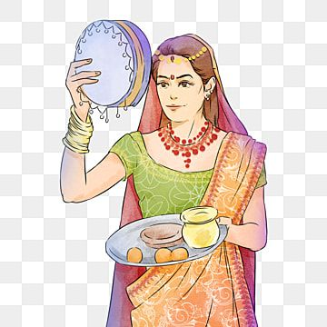 Traditional Illustration Of Indian Karwa Chauth Kartika Woman India Karwa Chauth Kartika Png Transparent Clipart Image And Psd File For Free Download Illustration Blue Poster Creative Illustration