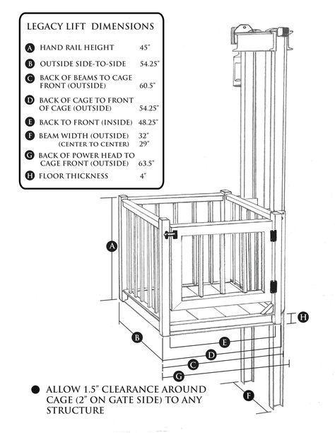 Cargo Lift Dimensions (PDF)   Max's shop ideas in 2019