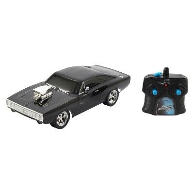 Jada Toys Fast Furious Rc 1970 Dodge Charger R T Remote Control Vehicle 1 16 Scale Glossy Black Dodge Charger Jada Toys Dodge