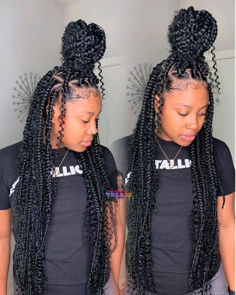 goddess bohemian box braids