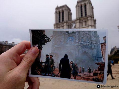 Le photographeDamien Hypolite, akaTidamz, a décidé de confronter le jeu vidéo avecla vie réelleen comparant le Paris de Assassin's Creed Unity à