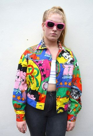 Gianni Versace Jeans Couture Betty Boop 90 S Denim Jacket Denim Jacket Fashion 90s Denim Jacket Jackets