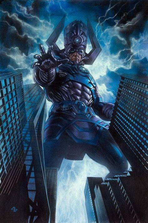 Comics Galactus Iron Man Art Silk Poster 12x18 24x36