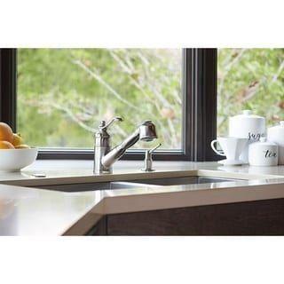 Pacific Bay Bainbridge Pull Out Kitchen Faucet Chrome Grey 1000 In 2020 Chrome Kitchen Faucet Pull Out Kitchen Faucet Kitchen Faucet