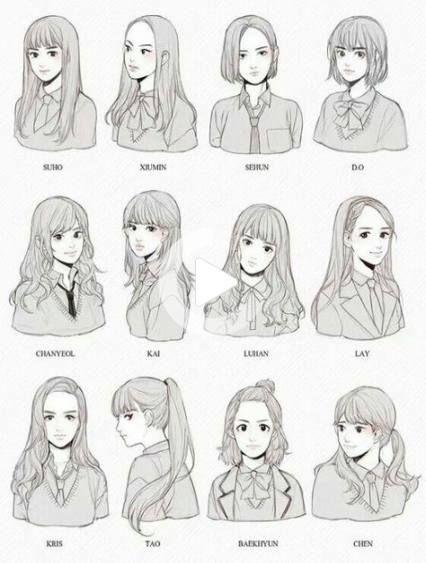 Hair Styles Anime : styles, anime, Hairstyles, Anime, Hair,, Reference