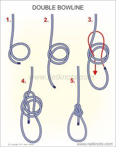 the running bowline use it to hang gear, drag game, or form a snare