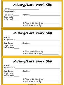 missing late work tracker with excuse slips charlie brown tribute