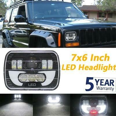 Sponsored Ebay 7x6 5x7 Rectangle Led Headlight Sealed Beam Drl