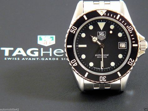 Superb TAG Heuer 1000 Submariner Man Stainless Steel with a black dial 980.013B