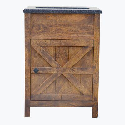 Esters Barn Door 24 Single Bathroom Vanity Set Single Bathroom Vanity Vanity Set 24 Inch Bathroom Vanity