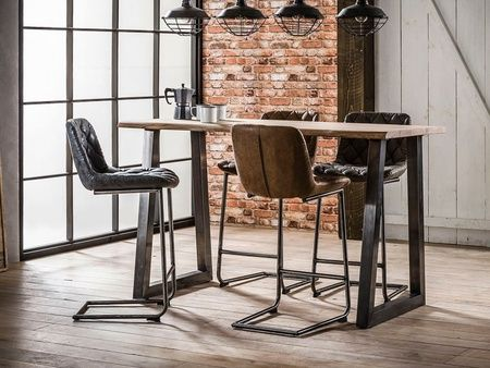 Lotusea Table Bar Ampana De Style Industriel Bois Massif Table Haute Industrielle Table Bar Mobilier De Salon