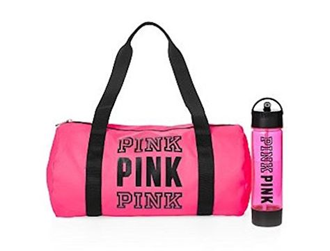 db2017df66 Victorias Secret PINK Friday Duffle Campus Water Bottle Duo Neon Hot Pink      More info could be found at the image url.Note It is affiliate link to  Amazon.