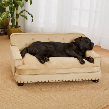 Enchanted Home Pet Library Sofa Dog Bed Large 30 X40 5 X18 Caramel Walmart Com Dog Couch Dog Furniture Dog Sofa