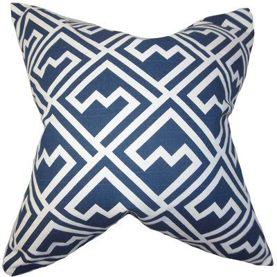 The Pillow Collection Indre Geometric Pillow Blue