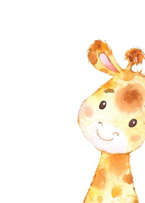 Nursery prints Giraffe nursery decor Nursery animal art | Etsy